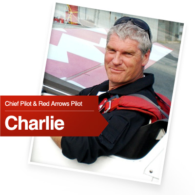 Charlie is Chief Pilot Red Arrows
