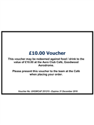 Goodwood Aerodrome Cafe Voucher